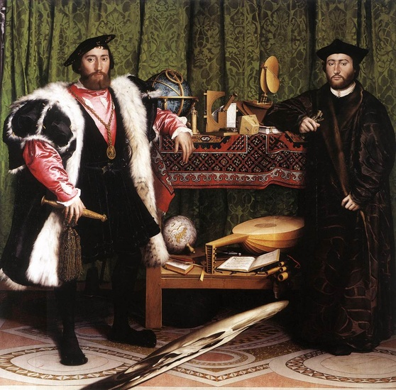 Hans Holbein the Younger >> ジャンドDintevilleとジョルジュSelve(`大使 )  |  (オイル, 芸術作品, 複製品, コピー, 絵画).