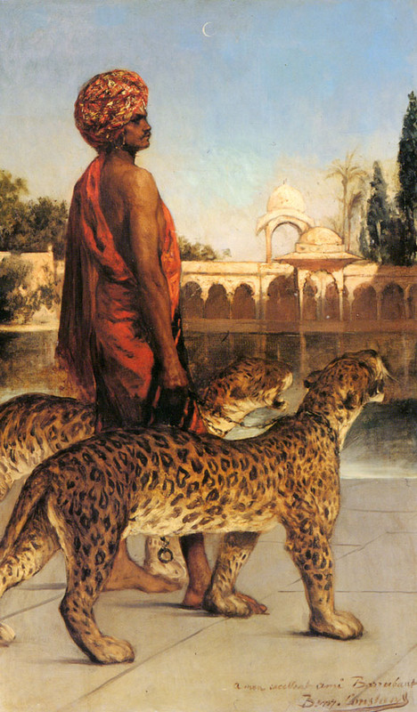The Palace Guard With Two Leopards (Benjamin Constant)