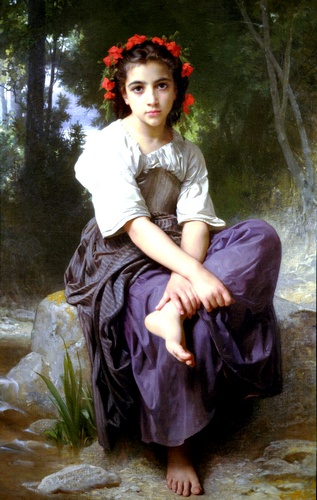 ブルック バイ William Adolphe Bouguereau (1825-1905, France) | 傑作コピー | WahooArt.com