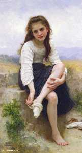 William Adolphe Bouguereau - お風呂の前に