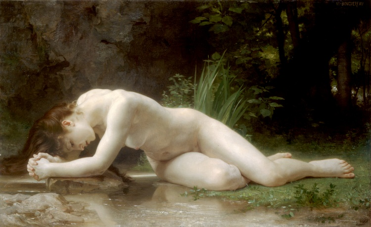ビブリス, オイル バイ William Adolphe Bouguereau (1825-1905, France)