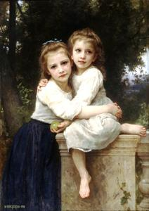 William Adolphe Bouguereau - 二人の姉妹