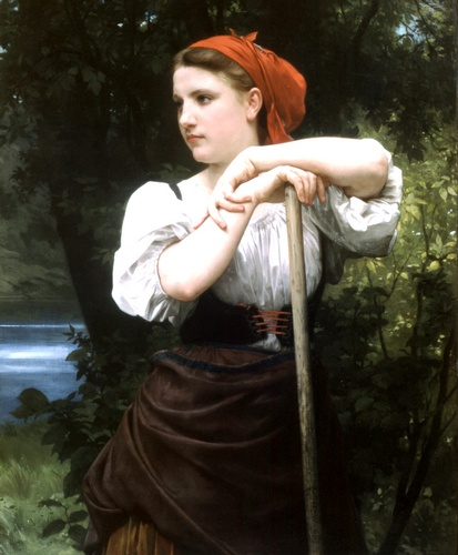 Faneuse, オイル バイ William Adolphe Bouguereau (1825-1905, France)