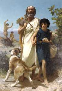 William Adolphe Bouguereau - ホーマーと彼のガイド
