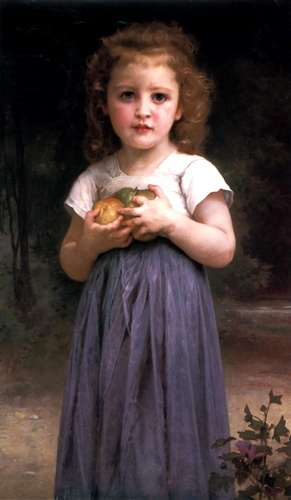 処女と子ども, 原油 バイ William Adolphe Bouguereau (1825-1905, France)