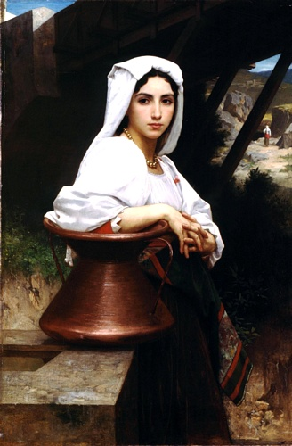 若いLeauのイタリアの描画 バイ William Adolphe Bouguereau (1825-1905, France) | WahooArt.com