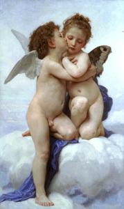 William Adolphe Bouguereau - ラムールとプシュケ子供