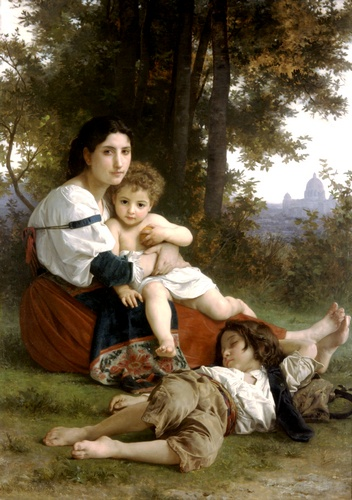 残り バイ William Adolphe Bouguereau (1825-1905, France) | 手作りの絵画 | WahooArt.com