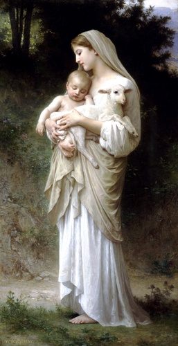Linnocence, オイル バイ William Adolphe Bouguereau (1825-1905, France)