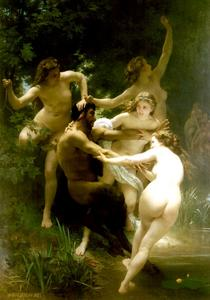 William Adolphe Bouguereau - ニンらsatyre