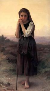 William Adolphe Bouguereau - 少し羊飼い