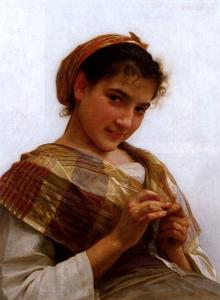 William Adolphe Bouguereau - 少女かぎ針の肖像
