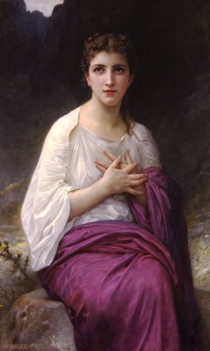 プシュケ, オイル バイ William Adolphe Bouguereau (1825-1905, France)