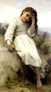 William Adolphe Bouguereau - リトル·マローダー1900