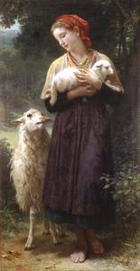 William Adolphe Bouguereau - 羊飼い1873 165.1x87.6cm