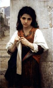 William Adolphe Bouguereau - 編み機1879