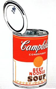 Andy Warhol - Campbell-S スープ缶 ( 牛肉 )