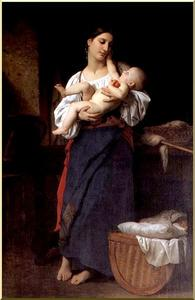William Adolphe Bouguereau - 母親の賞賛
