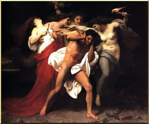 William Adolphe Bouguereau - Furiesによって追求Orestus