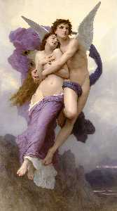 William Adolphe Bouguereau - プシュケの誘拐