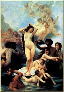 William Adolphe Bouguereau - 誕生 の ヴィーナス