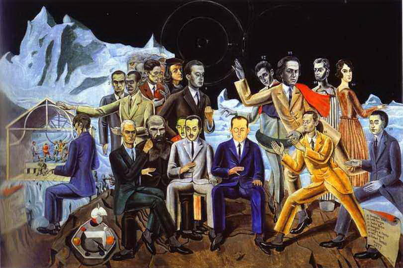 A Friends' 再会, キャンバス年石油 バイ Max Ernst (1891-1976, Germany)