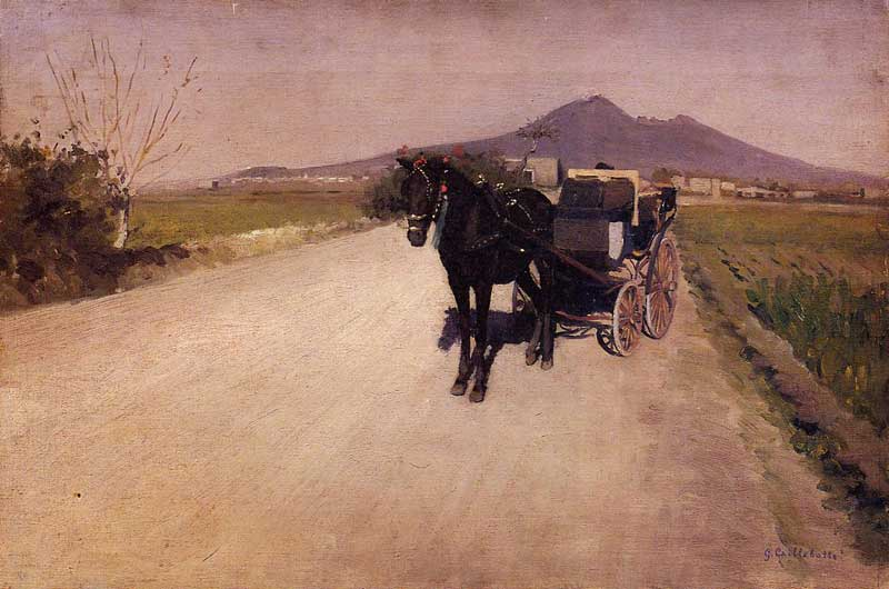 a 道路 近い ナポリ, 1872 バイ Gustave Caillebotte (1848-1894, France) | WahooArt.com