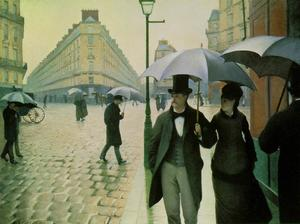 Gustave Caillebotte - パリの通り、雨の日
