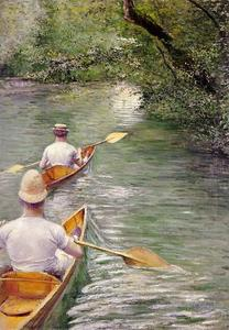Gustave Caillebotte - カヌー別名Perissoires