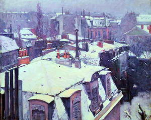 Gustave Caillebotte - 雪の下屋根