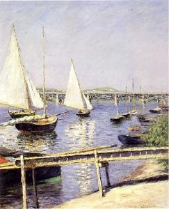 Gustave Caillebotte - sailing` ボート で アルジャントゥーユ