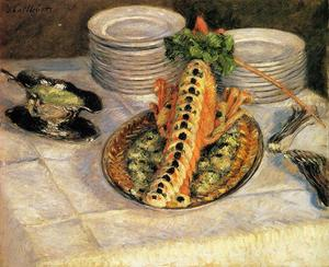 Gustave Caillebotte - ザリガニのある静物