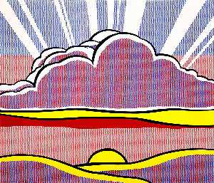 Roy Lichtenstein - 沈む太陽
