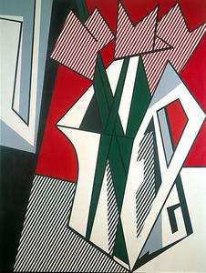 Roy Lichtenstein - ピンク 花