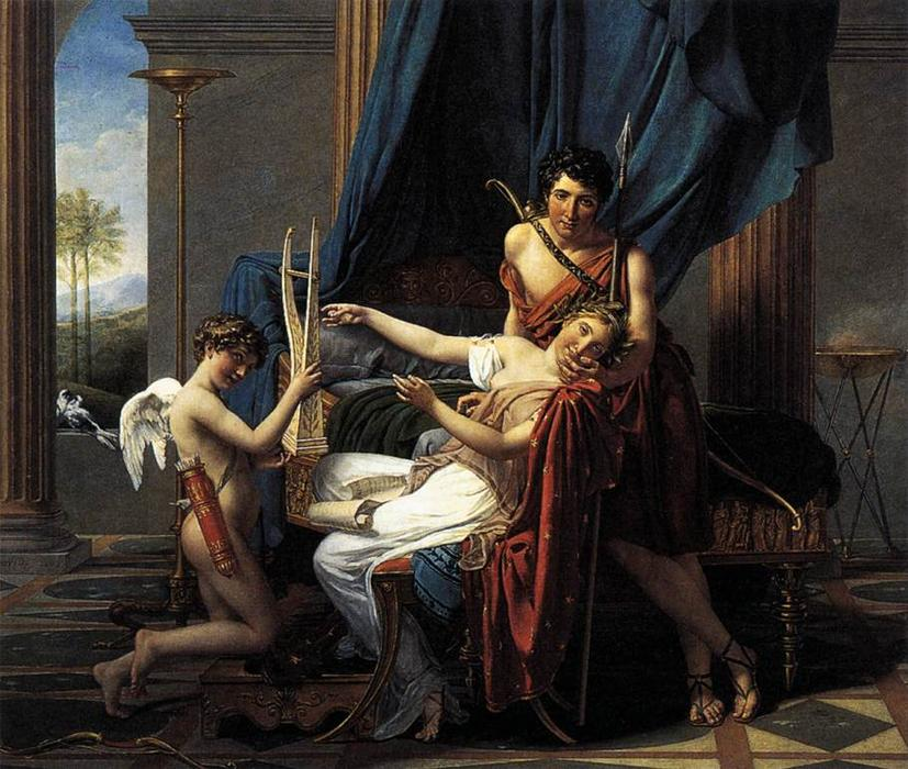 サッポーとPhaon, 1809 バイ Jacques Louis David (1748-1800, France) | WahooArt.com