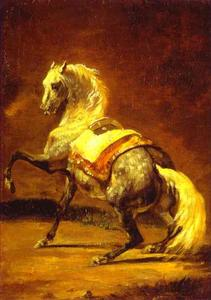 Jean-Louis André Théodore Géricault - グレーまだら馬