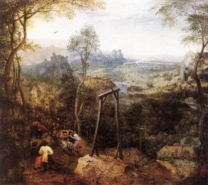 Pieter Bruegel The Elder - カササギ 上の Gallow