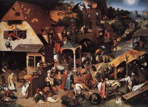 Pieter Bruegel The Elder - オランダの諺