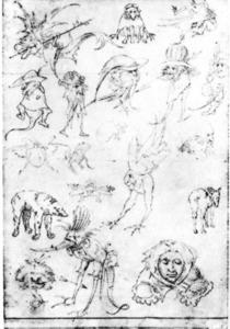 Hieronymus Bosch - 研究 of Monsters3