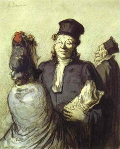 Honoré Daumier - 彼のクライアントと弁護士