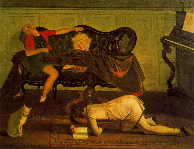 The Living Room Painting By Balthus