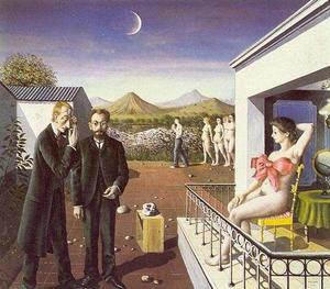 Paul Delvaux - フェーズ の  ザー  月  私