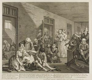 William Hogarth - Plate 八 , から Rake's Progress