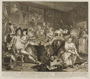 William Hogarth - Plate 三 , から Rake's Progress