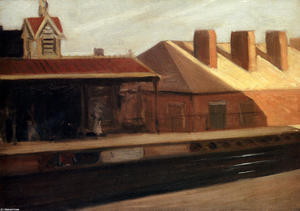 Edward Hopper - エル 駅