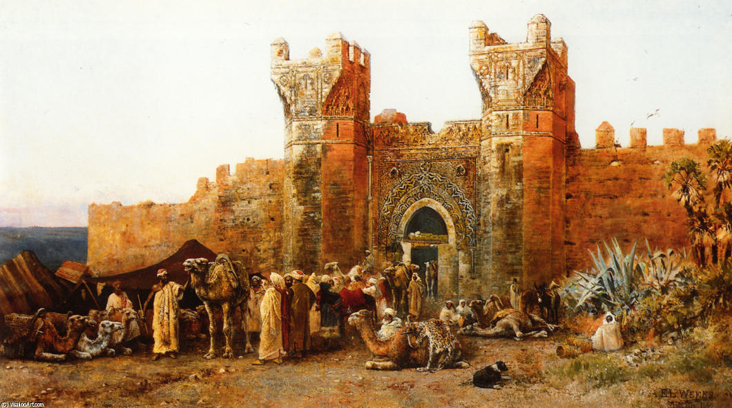 Shehal、モロッコのゲート, 1880 バイ Edwin Lord Weeks (1849-1903, United States)