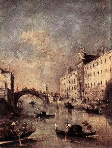 Francesco Lazzaro Guardi - リオ·デイMendicanti
