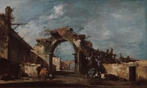 Francesco Lazzaro Guardi - 台無しアーチ