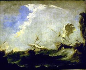 Francesco Lazzaro Guardi - 嵐 海