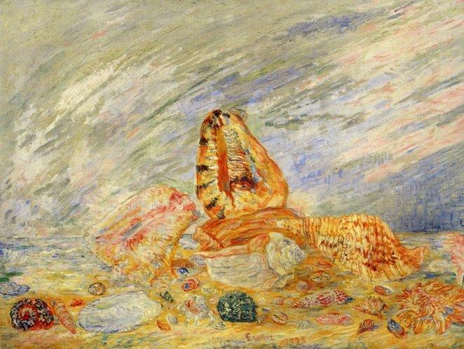 Coquillages 1, オイル バイ James Ensor (1860-1949, Belgium)